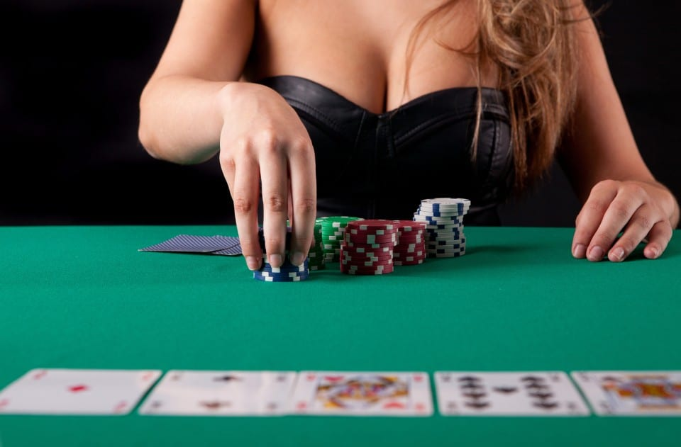 Topless waitress for poker night hire.
