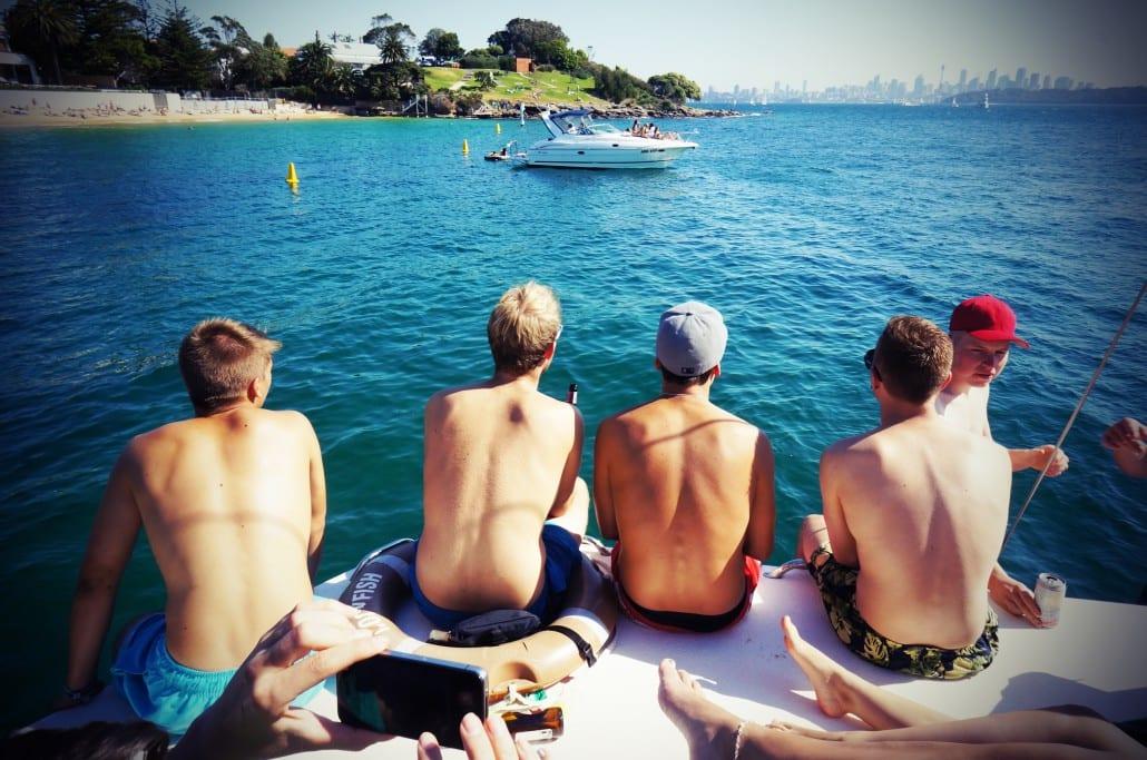 byo bucks party boat cruise sydney
