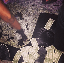 bucks night stripper money
