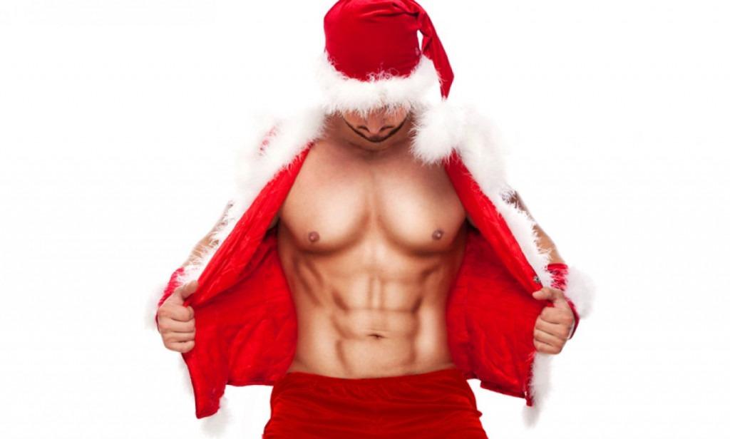 sexy santa male stripper